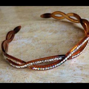 Accessories - Headband hairband brown made w Swarovski elements